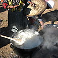 Pot of pap; Black S. Africa's staple food