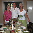 Christmas dinner with Brenda and Judy, fellow volunteers